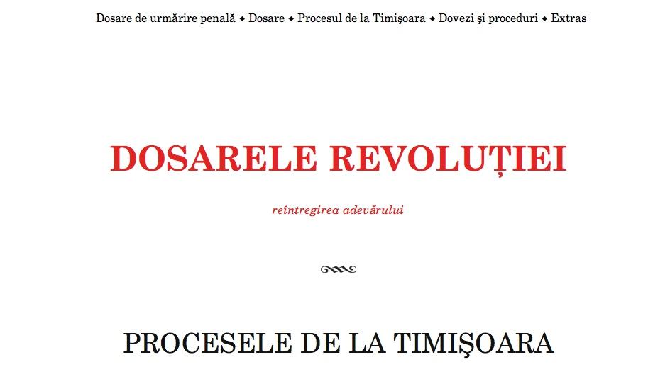 Dosarelerevolutiei.ro – un proiect al Asociaţiei Civice Banat